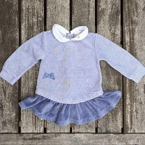 9m Tutto Piccolo Blue Velvet Dress